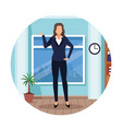 executive woman cartoon vector image vector image