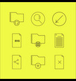 files and folders linear icon set simple outline vector image vector image