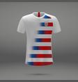 football kit of usa vector image