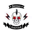 forever rock-n-roll badge icon vector image vector image