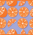 fruit seamless pattern oranges with shadow vector image vector image
