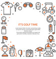 golf club card or invitation template vector image vector image