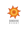 Gradient sun logo resort mockup abstract creative vector image vector image