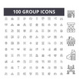 group line icons signs set outline vector image vector image