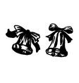 hand brush sketch of a christmas bell vector image vector image