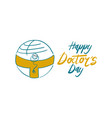 happy doctors day vector image
