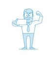 happy man office worker makes selfie vector image vector image