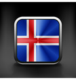 Iceland icon flag national travel icon country vector image vector image
