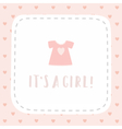 Its a girl Greeting card vector image vector image
