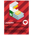 laundry color isometric poster vector image vector image