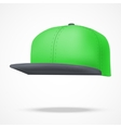 Layout of Male green rap cap vector image vector image
