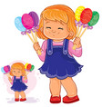little girl holding in her hands decorative vector image