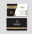 luxury and elegant business card vector image vector image