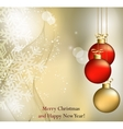 Merry Christmas Landscape Happy New Year vector image vector image