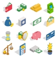 Money Icons set isometric 3d style vector image vector image