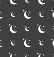 Moon icon sign Seamless pattern on a gray