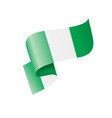 nigeria flag on a white vector image vector image