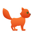 red cat cute cartoon character vector image vector image