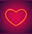 red romantic neon heart vector image vector image