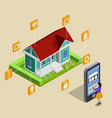 remote house control concept vector image