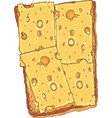 sandwich toasted sliced bread with cheese vector image vector image