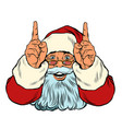 santa claus points up presentation gesture vector image vector image