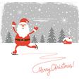 Santa skate vector image vector image
