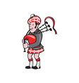 Scotsman Bagpiper Bagpipes Cartoon vector image vector image