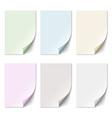 set empty paper sheet in pastel colors vector image