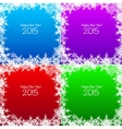 Set of Christmas snowflake backgrounds vector image