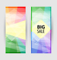 set vertical banners with empty place for text vector image
