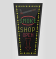 shining retro light banner smoke shopping vector image vector image