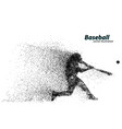 silhouette of a baseball player from particle vector image