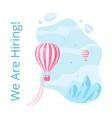 social media hot air balloon hiring vector image vector image