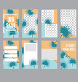 social media stories templates banners and frames vector image vector image