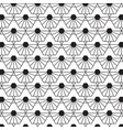 stylish black and white geometric pattern vector image vector image