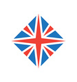 stylized british flag icon or design element vector image