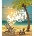 Summer Beach Lettering Design in the vector image