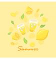 Summer Lemon Lemonade vector image vector image