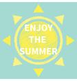 Sun Scribble effect Enjoy the summer flat vector image vector image