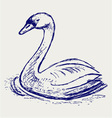 Swan sketch vector | Price: 1 Credit (USD $1)