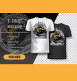 t-shirt template fully editable with extreme atv vector image vector image