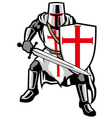 templar knight vector image vector image