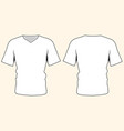template blank t-shirt front and back views vector image