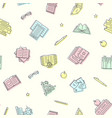thin lined book seamless pattern vector image vector image