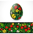 Traditional ornate easter eggs sticker design vector image vector image