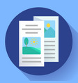 two-fold brochure icon flat style vector image vector image