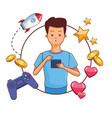 videogames and millennials cartoons vector image vector image