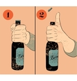 Vintage grunge style beer poster vector image