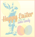 Vintage happy easter card or wallpaper vector | Price: 1 Credit (USD $1)